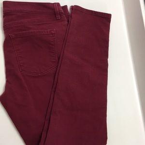 LOFT Burgundy modern skinny pants